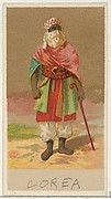 Korea, from the Natives in Costume series (N16), Teofani Issue, for Allen & Ginter Cigarettes Brands