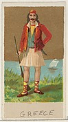 Greece, from the Natives in Costume series (N16), Teofani Issue, for Allen & Ginter Cigarettes Brands