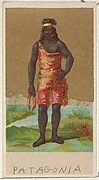 Patagonia, from the Natives in Costume series (N16), Teofani Issue, for Allen & Ginter Cigarettes Brands