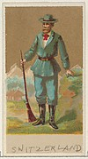 Switzerland, from the Natives in Costume series (N16), Teofani Issue, for Allen & Ginter Cigarettes Brands