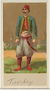 Turkey, from the Natives in Costume series (N16), Teofani Issue, for Allen & Ginter Cigarettes Brands