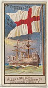 Commodore's Pennant, Great Britain, from the Naval Flags series (N17) for Allen & Ginter Cigarettes Brands
