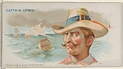 Captain Lewis, Chasing a Merchantman, from the Pirates of the Spanish Main series (N19) for Allen & Ginter Cigarettes