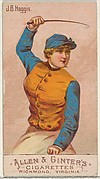 J.B. Haggin, from the Racing Colors of the World series (N22b) for Allen & Ginter Cigarettes