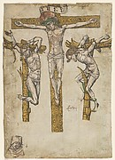 Fragments of a Crucifixion, with the Virgin Mary