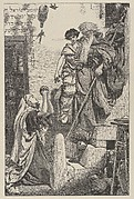 Elijah and the Widow's Son (Dalziels' Bible Gallery)