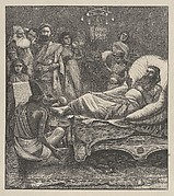 The Chronicles Being Read to the King (Dalziels' Bible Gallery)