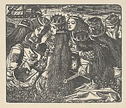 King Arthur and the Weeping Queens (The Palace of Art, Tennyson's Poems, New York, 1903)