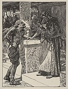 Cushi Brings to David News of the Death of Absalom (Dalziels' Bible Gallery)