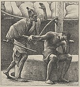 Samson at the Mill (Dalziels' Bible Gallery)