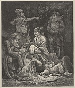 The Five Kings Hiding in the Cave (Dalziels' Bible Gallery)