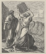 Moses Destroys the Tables [Tablets] (Dalziels' Bible Gallery)