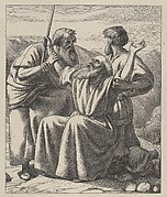 Moses' Hands Held Up (Dalziels' Bible Gallery)