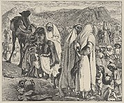 Gathering Manna (Dalziels' Bible Gallery)
