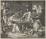 Joseph Distributes Corn (Dalziels' Bible Gallery)