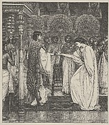 Pharoah Honors Joseph (Dalziels' Bible Gallery)