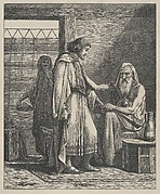 Isaac Blessing Jacob (Dalziels' Bible Gallery)