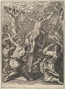 Christ on Raised on the Cross, from The Passion of Christ, plate 19