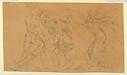 Battle Scene with a Prisoner Being Bound, after Raphael