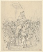 """Study for """"The Sultan of Morocco and His Entourage"""""""