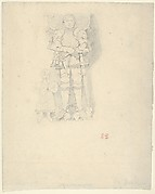 Tomb Effigies: A Man in a Suit of Armor beside a Child