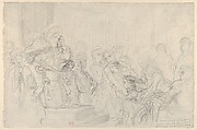 "Jacopo Brought before His Father, the Doge: Study for ""The Two Foscari"""