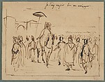 "Study for ""The Sultan of Morocco and His Entourage"""