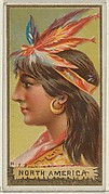 North America, from the Types of All Nations series (N24) for Allen & Ginter Cigarettes