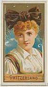 Switzerland, from the Types of All Nations series (N24) for Allen & Ginter Cigarettes