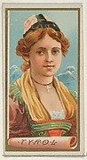 Tyrol, from the Types of All Nations series (N24) for Allen & Ginter Cigarettes