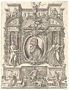 Portrait of Pope Pius V in an architectural setting