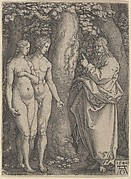 God Forbidding Adam and Eve to Eat from the Tree of Knowledge, from The Story of Adam and Eve