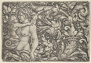 Horizontal Panel with Triton and Child Surrounded by Foliage