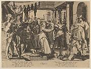 Judgment of Solomon, from Thronus Justitiae, tredecim pulcherrimus tabulis..., plate 2