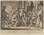 Count William III of Holland Permitting the Beheading of his Baliff, from Thronus Justitiae, tredecim pulcherrimus tabulis..., plate 7