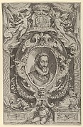 Portrait of King Henry IV of France in a decorative border