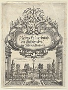 Title Page, from Newes Lauberbuechlein