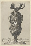 Plate 7: Vase with nude women with the feet of a griffin, from Antique Vases
