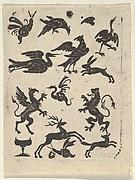 Blackwork Design with Fifteen Motifs