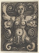 Vertical Panel with a Half-Length Female with Leaves as Arms