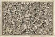 Horizontal Panel with a Female Figure with Leaves as Legs, from Varii Generis Opera Aurifabris Necessaria