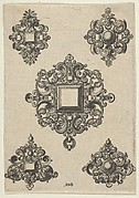 Vertical Panel with Designs for Five Mirrors