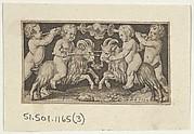 Two Genii Riding Rams