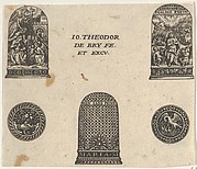 Horizontal Panel with Three Thimble Designs and Two Medallions