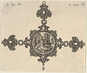 Design for a Brooch with Jael Killing Sisera