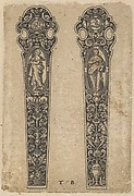 Design for Knife Handles with Personifications of Peace and Faith