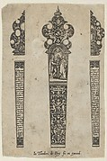Design for a Knife Handle with a Scene of Christ Joining a Man and Woman