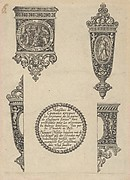 Design for Four Knife Handles with Title