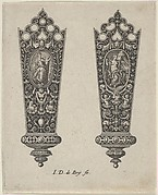 Design for Knife Handles with Ovals Containing Fortitude and the Death of Lucretia