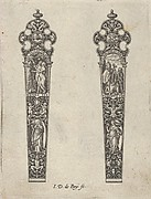 Design for Knife Handles with the Temptation of Adam and Eve and a Memento Mori Scene